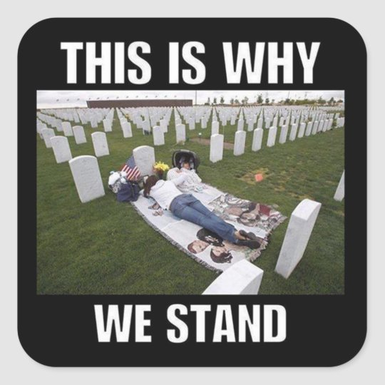 THIS IS WHY WE STAND SQUARE STICKER