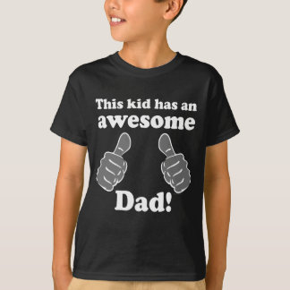 This Kid Awesome Dad Father's Day T-Shirt for Kids