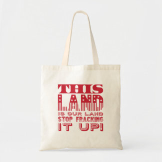 """This Land..."" Red Flag Type Tote Bag"