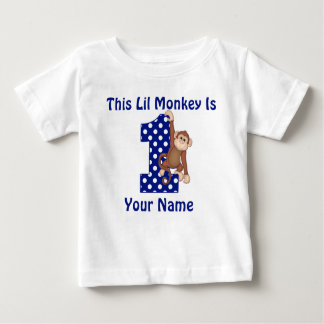 This Lil Monkey Personalized First Birthday Shirt