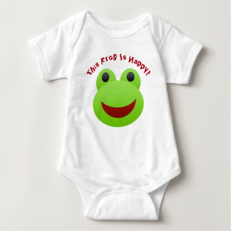 This Little Frog Is Happy Baby Jersey Bodysuit