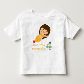 This Little Mermaid is 4 Toddler T-shirt