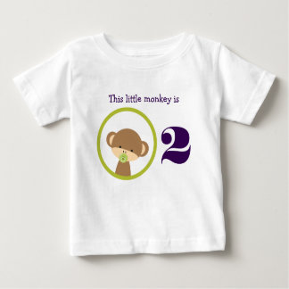 This Little Monkey Birthday Baby T-Shirt
