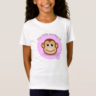 This little monkey is 6 T-Shirt