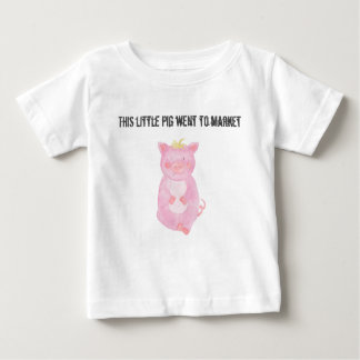 This little pig went to market Personalize Baby T-Shirt