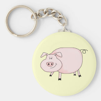 This Little Piggy Basic Round Button Keychain