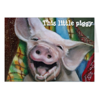 THIS LITTLE PIGGY CHRISTMAS WISHES GREETING CARD