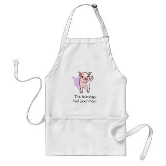 This Little Piggy Cute Pig Drawing Apron Template
