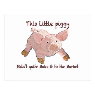 This Little Piggy Didn't Make it Home Notecard Postcard