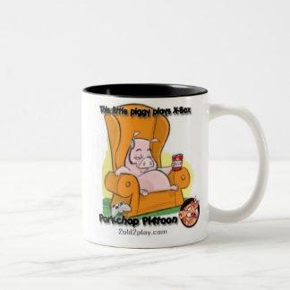 THIS LITTLE PIGGY Two-Tone COFFEE MUG