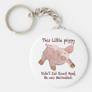 This Little Piggy was Marinated Keychain