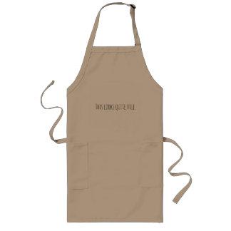 This looks quite vile long apron