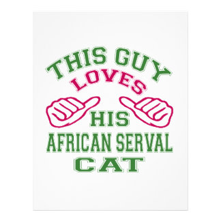This Loves His African serval Cat Letterhead Template