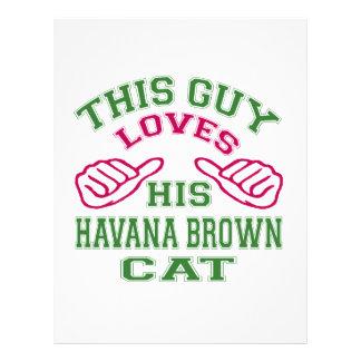 This Loves His Havana Brown Cat Letterhead Design