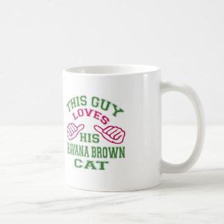 This Loves His Havana Brown Cat Mugs