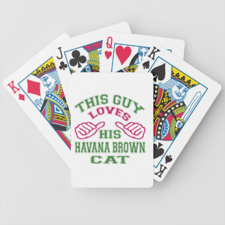 This Loves His Havana Brown Cat Deck Of Cards
