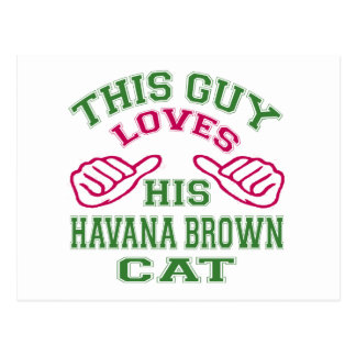 This Loves His Havana Brown Cat Post Card