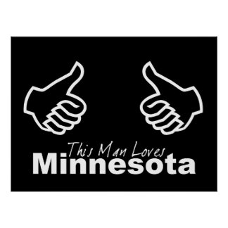 This Man Loves MN Poster