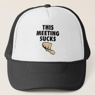 This Meeting Sucks! Thumbs Down! Trucker Hat