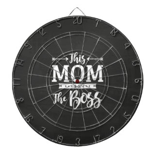 This Mom Is The Boss Dartboard With Darts
