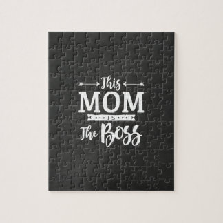 This Mom Is The Boss Jigsaw Puzzle