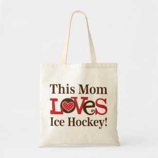 This Mom Loves Ice Hockey Tote Bag