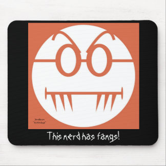 This nerd has fangs! mouse pad