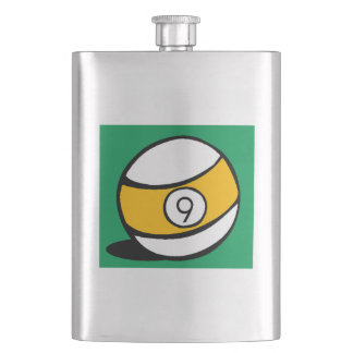 This Nine Ball design is a great gift idea for bil Hip Flask
