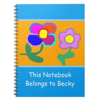 'This Notebook Belongs To Becky' Notebook