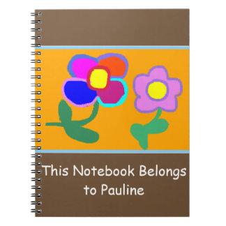'This Notebook Belongs To Pauline' Notebook