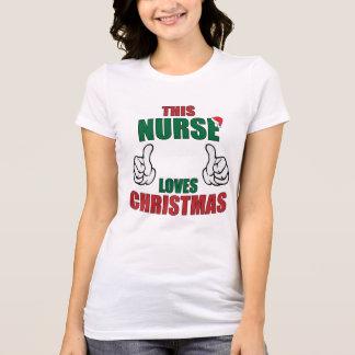 This Nurse Loves Christmas! T-Shirt