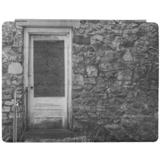 This Old Rock Wall Grayscale iPad Cover