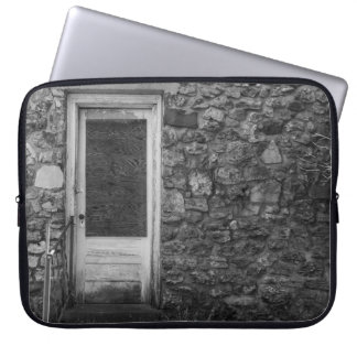 This Old Rock Wall Grayscale Laptop Sleeve