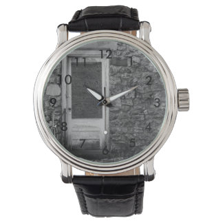 This Old Rock Wall Grayscale Watch