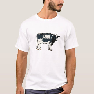 this Ordeal quality t shirt cow motif white