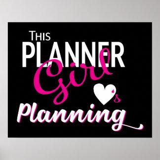 This Planner Girl Loves Planning Poster