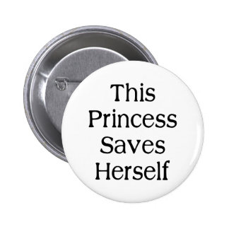 This Princess Saves 2 Inch Round Button