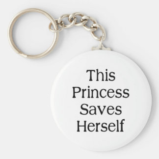 This Princess Saves Basic Round Button Keychain
