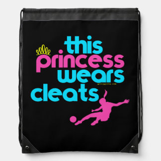 This Princess Wears Cleats - Golly Girls Drawstring Bag