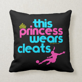 This Princess Wears Cleats - Golly Girls Throw Pillow