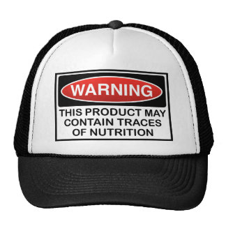 THIS PRODUCT MAY CONTAIN TRACES OF NUTRITION TRUCKER HAT