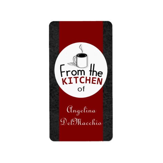 This Retro Dish Comes From You! Custom Label