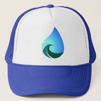 This Salty Life Wave Blue Trucker Hat