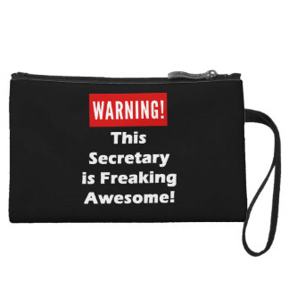 This Secretary is Freaking Awesome! Wristlets