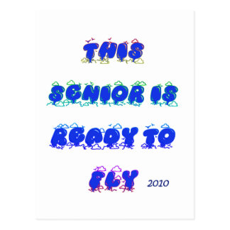THIS SENIOR IS READY TO FLY POSTCARD