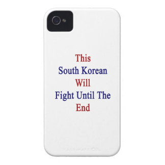 This South Korean Will Fight Until The End iPhone 4 Case-Mate Case