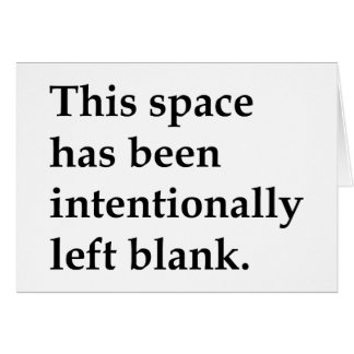 This Space Blank Greeting Card