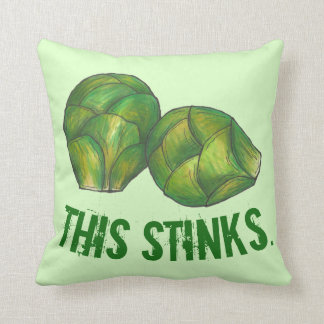 This Stinks Green Brussels Sprouts Vegetable Food Throw Pillow