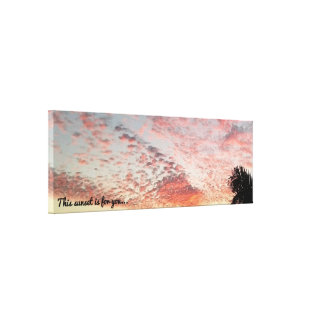 This sunset is for you Gorgeous Pink Sunset Canvas Print
