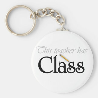 This Teacher Has Class Basic Round Button Keychain